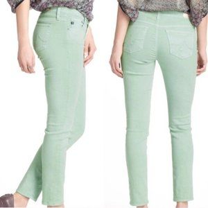 Ag Adriano Goldschmie Green Stevie Ankle Jeans